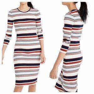 Madewell Ribbed Long Sleeve Midi Dress